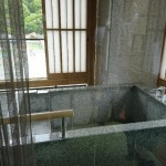 ベランダにある露天風呂※温泉ではありません